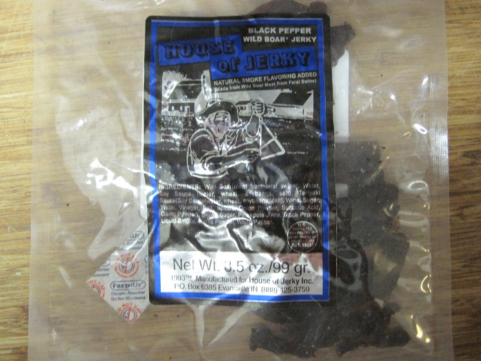 Black Pepper Wild Boar Jerky